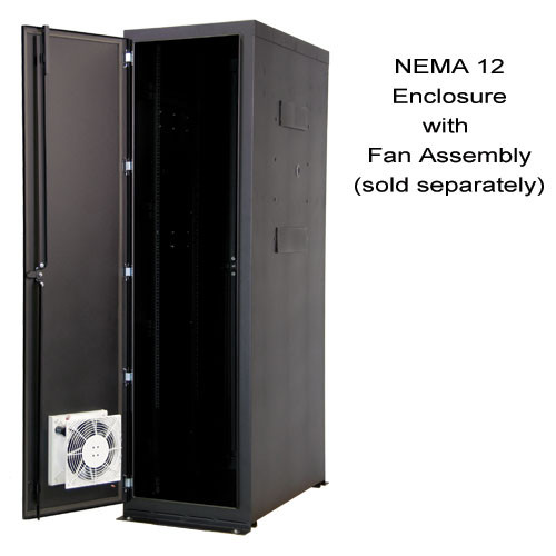 "NEMA 12  84""H x 30""W x 42""D Enclosure with one solid side and one AC side panel ""A""  