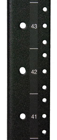 """#10-32 Mounting Rails  for 72""""H enclosures"""