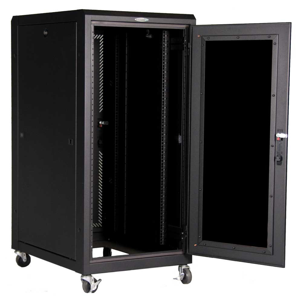 "24 RMU Rack Cabinet 48.00""H x 24.00""W x 32.00""D with TPE-24F fan top 