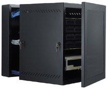 Wall Mount Swing Out Data Cabinets 25U | GL48WM