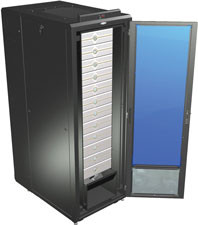 Server Cooling Rack Enclosures for Data Centers Complete Kit With Casters and Levelers  | GL840LE-3048-LGC