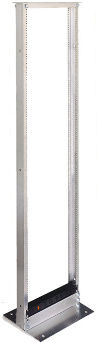 "2 Post 19"" Serverrack, 36""H x 20.31""W x 14""D, 18 RMU, silver anodized finish 