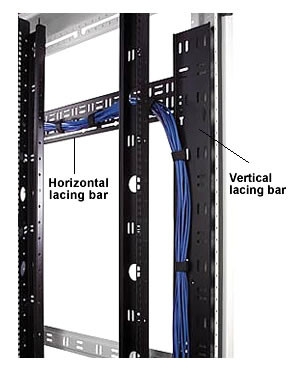 "Vertical Lacing Bar for 48""H enclosure 