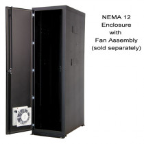 """NEMA 12  84""""H x 30""""W x 42""""D Enclosure with one solid side and one AC side panel """"A""""  