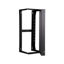 "12U Extra Deep Wall Mount Swing Rack 24""D  